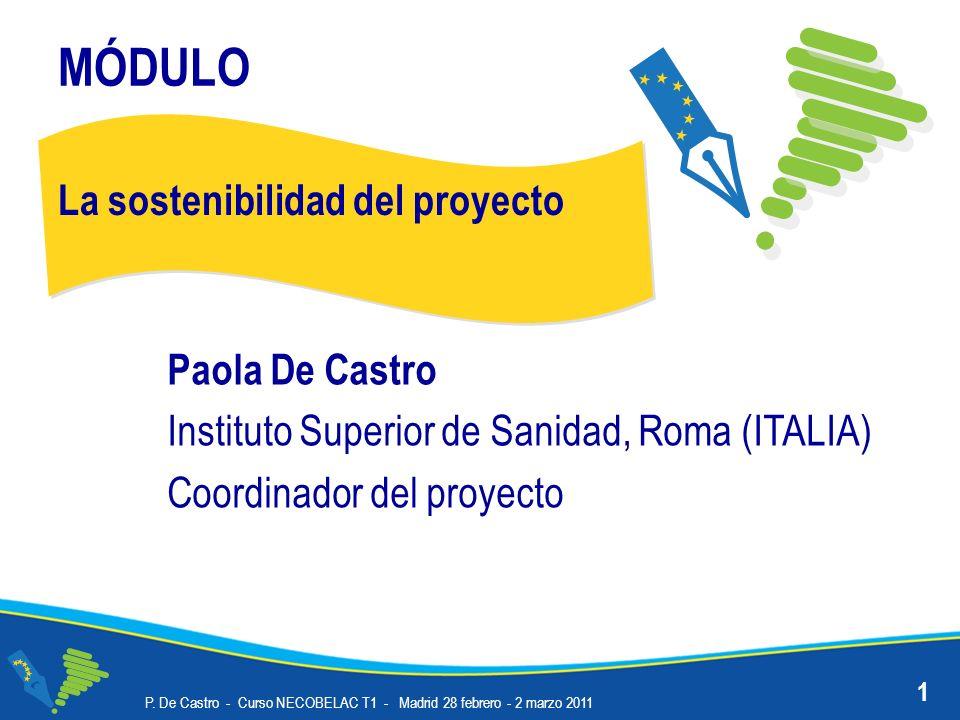 MÓDULO La sostenibilidad del proyecto Paola De Castro