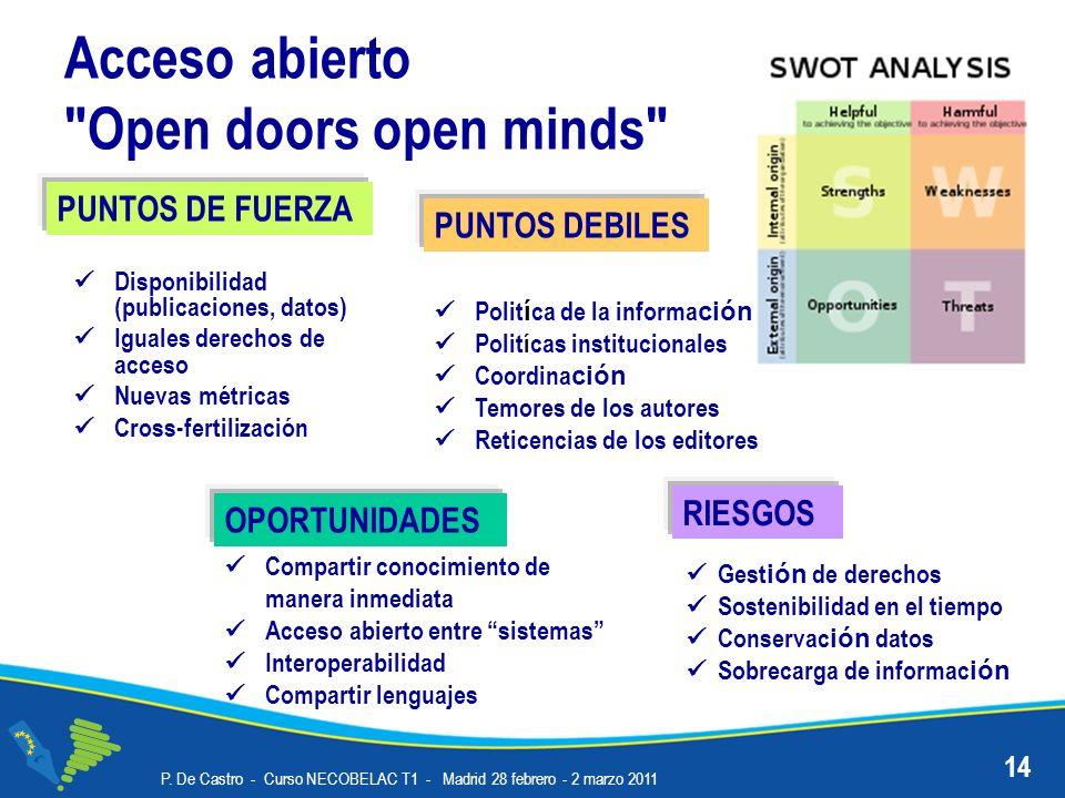 Acceso abierto Open doors open minds