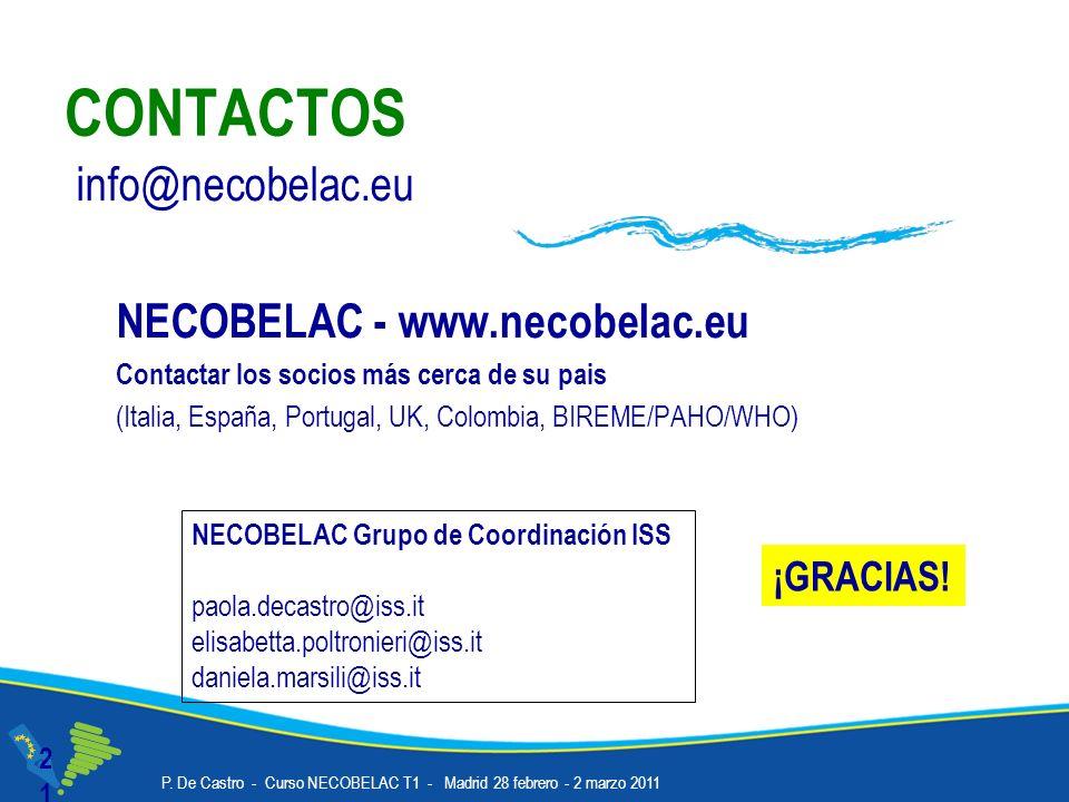 CONTACTOS info@necobelac.eu NECOBELAC - www.necobelac.eu ¡GRACIAS!