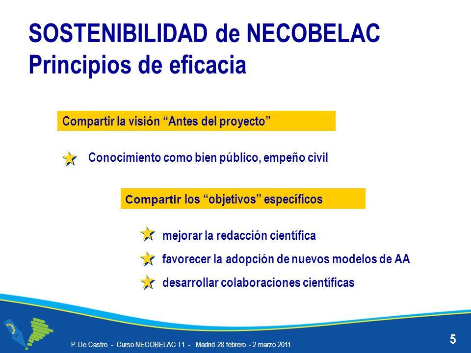 SOSTENIBILIDAD de NECOBELAC Principios de eficacia
