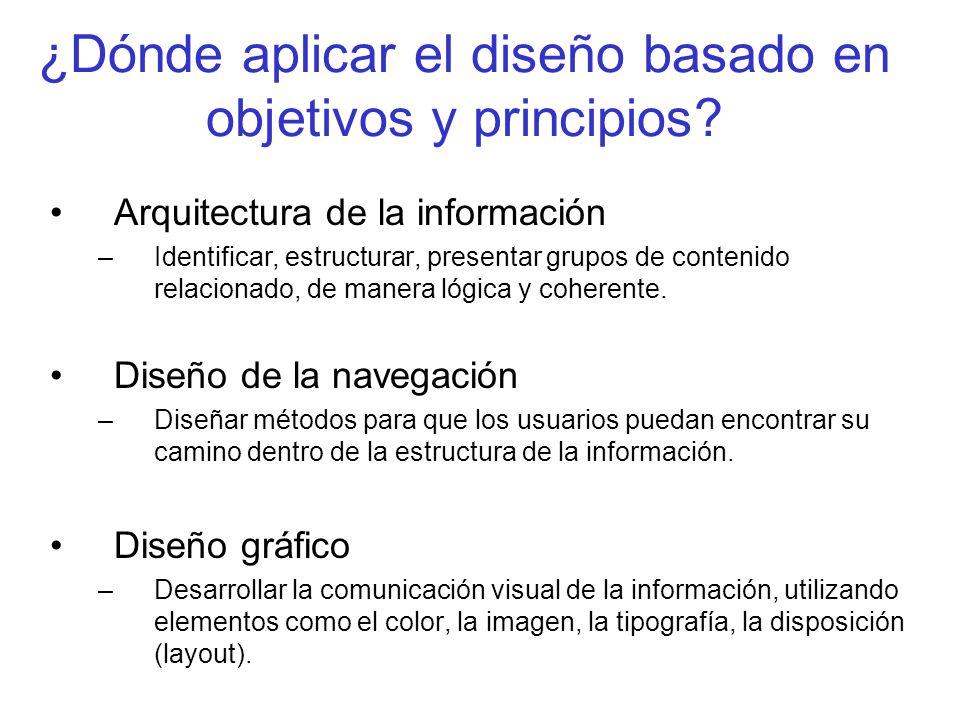 ¿Dónde aplicar el diseño basado en objetivos y principios