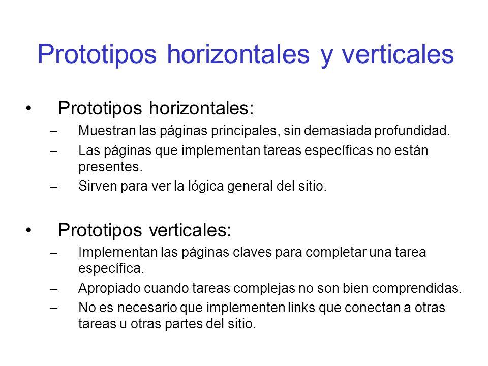 Prototipos horizontales y verticales