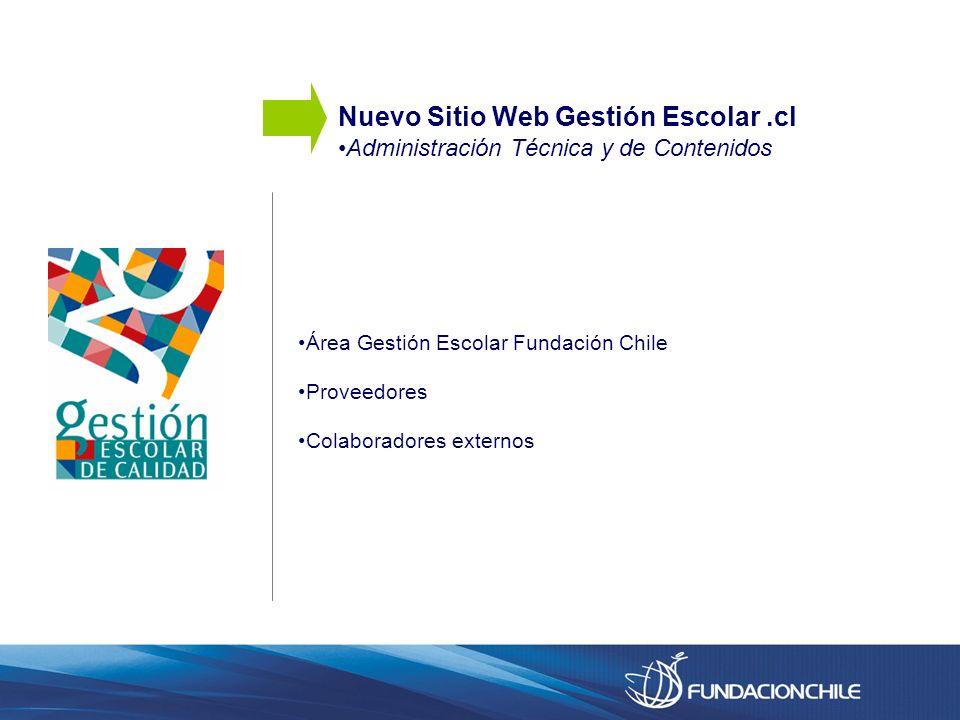 Nuevo Sitio Web Gestión Escolar .cl