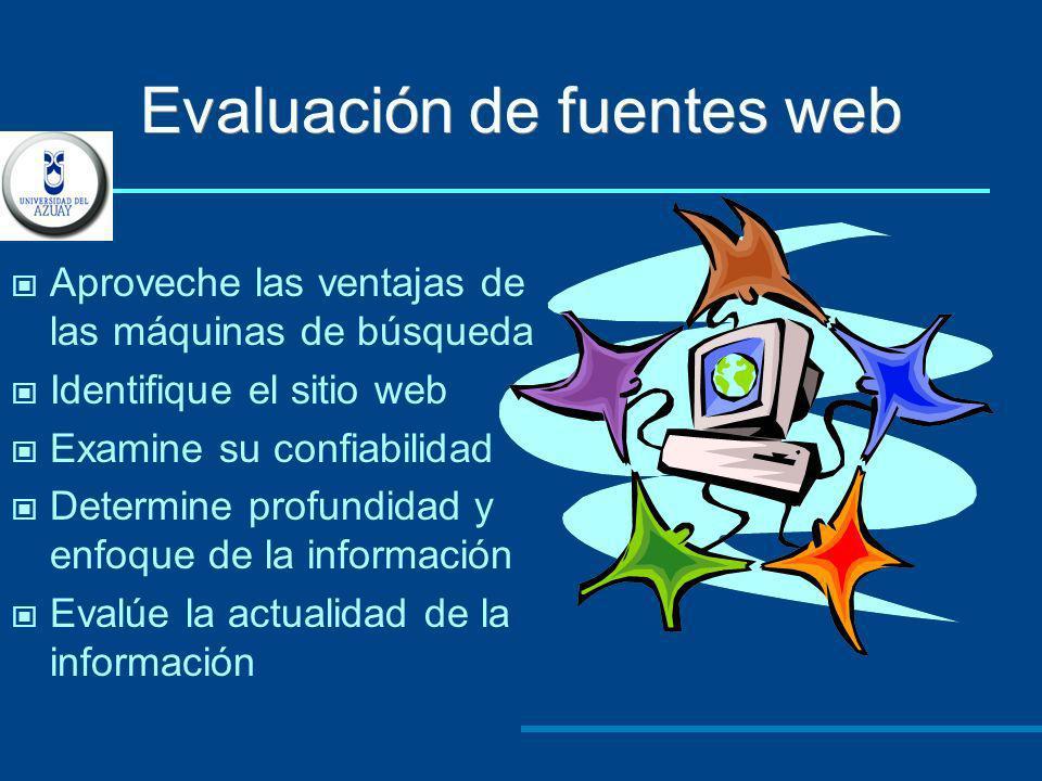 Evaluación de fuentes web