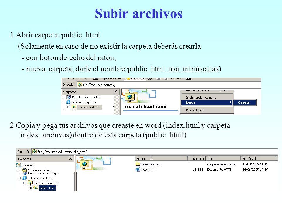 Subir archivos 1 Abrir carpeta: public_html