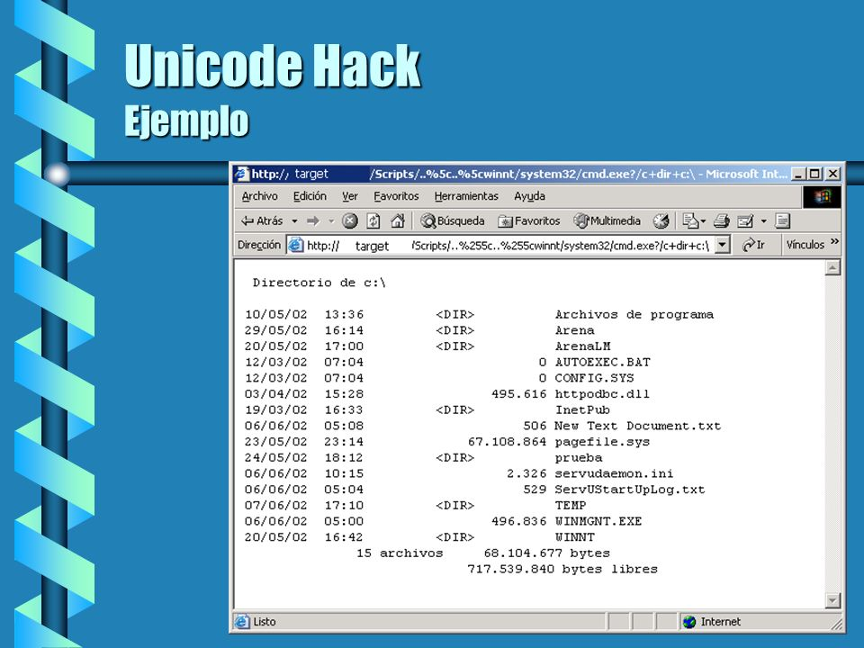 Unicode Hack Ejemplo