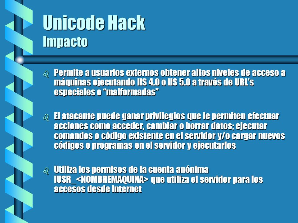 Unicode Hack Impacto