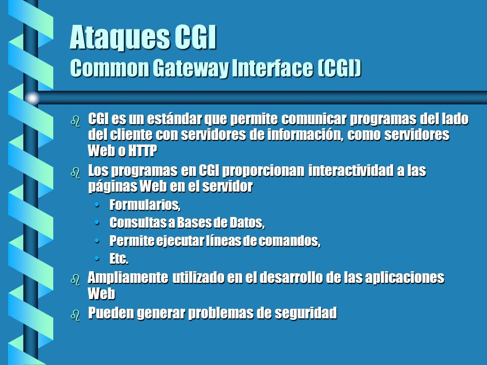 Ataques CGI Common Gateway Interface (CGI)
