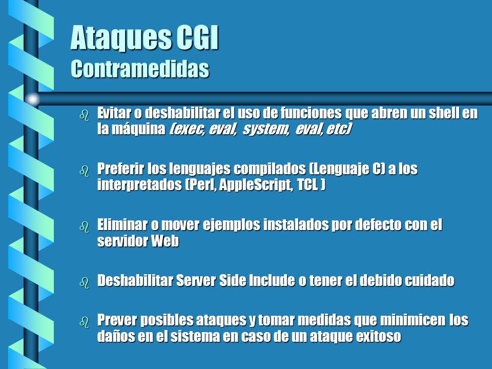 Ataques CGI Contramedidas