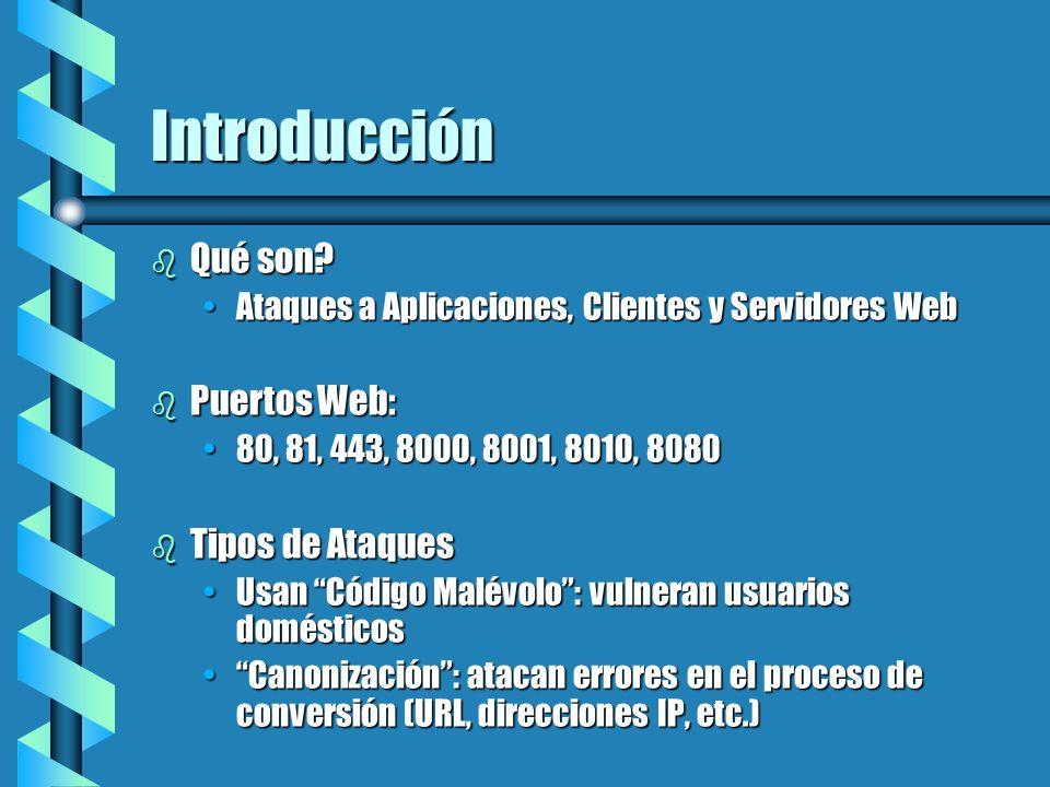 Introducción Qué son Puertos Web: Tipos de Ataques
