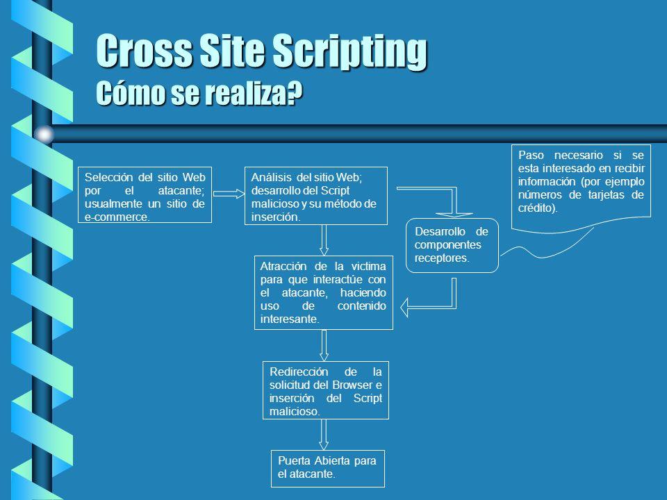 Cross Site Scripting Cómo se realiza