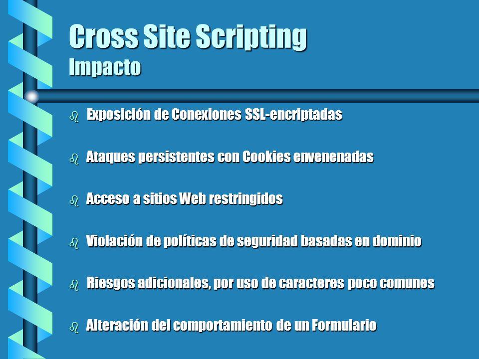 Cross Site Scripting Impacto