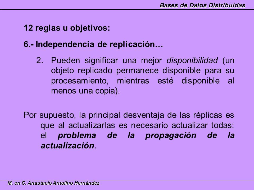 6.- Independencia de replicación…