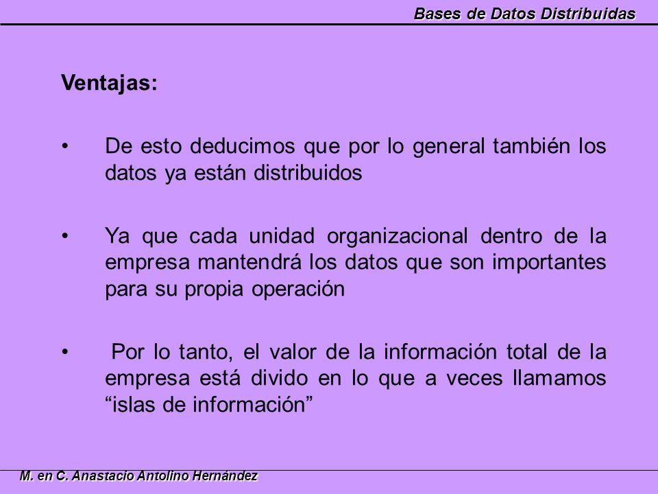 Ventajas: De esto deducimos que por lo general también los datos ya están distribuidos.