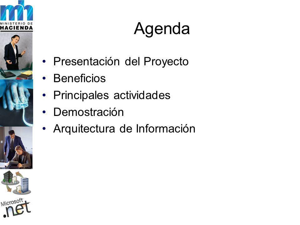 Agenda Presentación del Proyecto Beneficios Principales actividades
