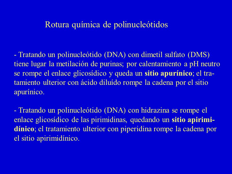 Rotura química de polinucleótidos