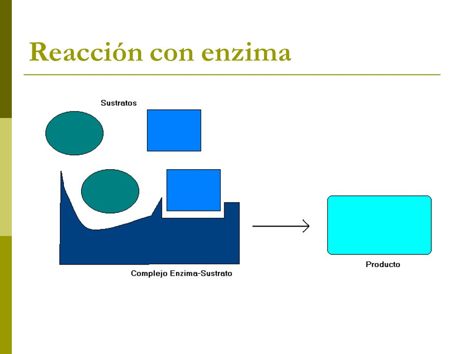 Reacción con enzima
