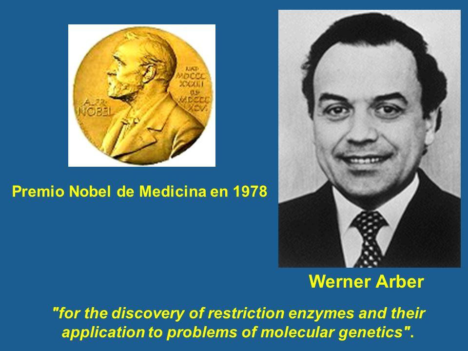 Werner Arber Premio Nobel de Medicina en 1978