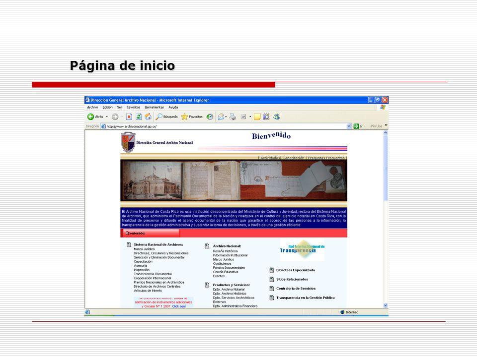 Página de inicio