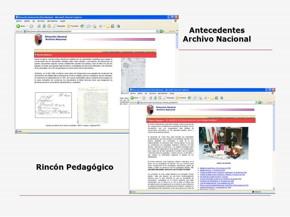 Antecedentes Archivo Nacional
