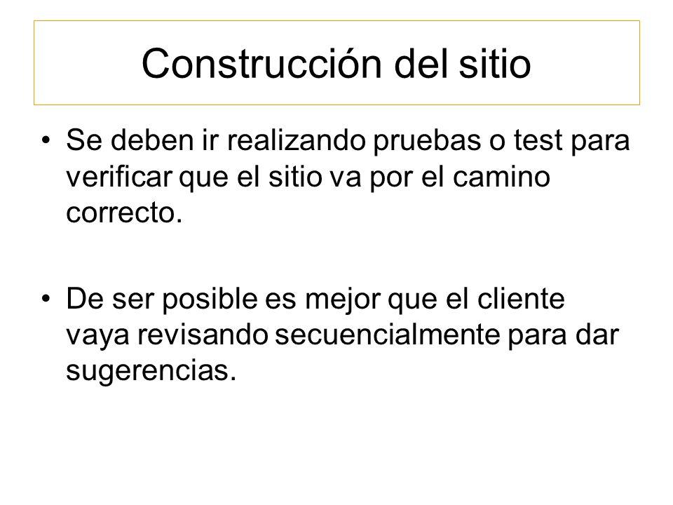 Construcción del sitio