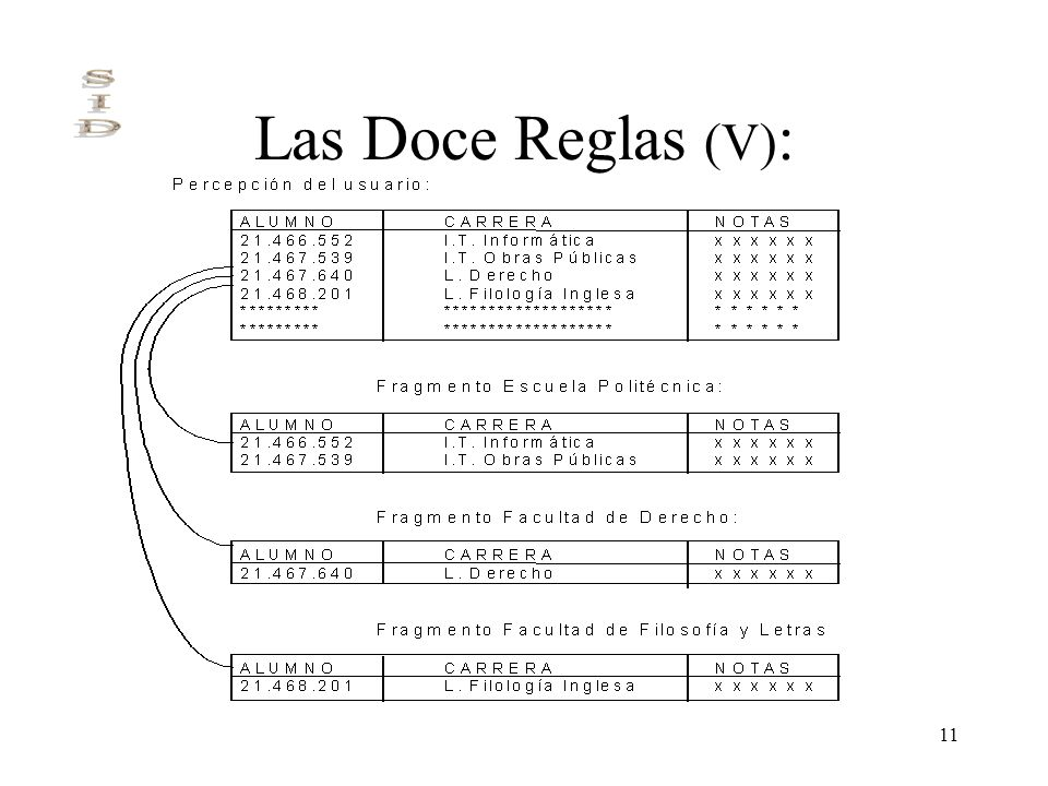 Las Doce Reglas (V):