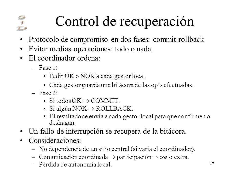 Control de recuperación