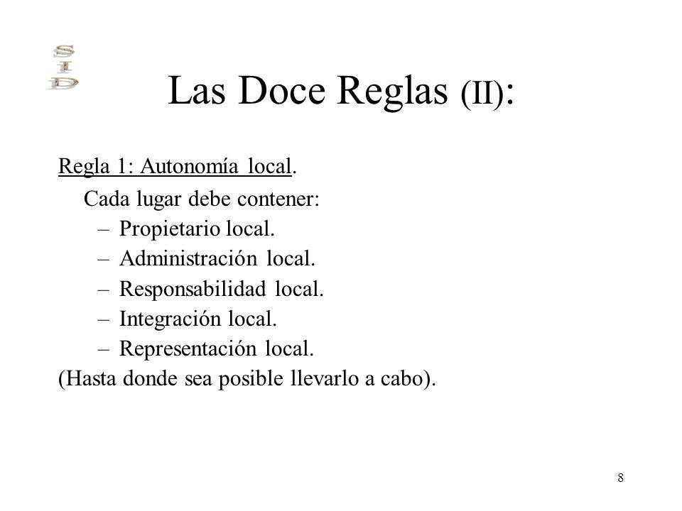 Las Doce Reglas (II): Regla 1: Autonomía local.