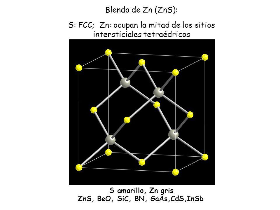 ZnS, BeO, SiC, BN, GaAs,CdS,InSb