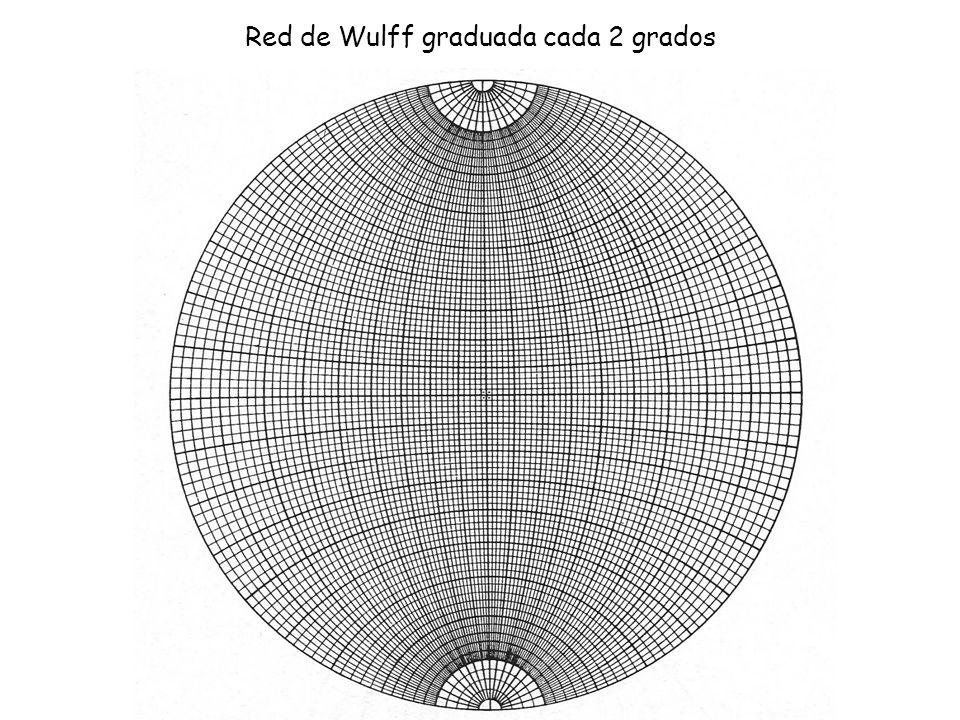 Red de Wulff graduada cada 2 grados