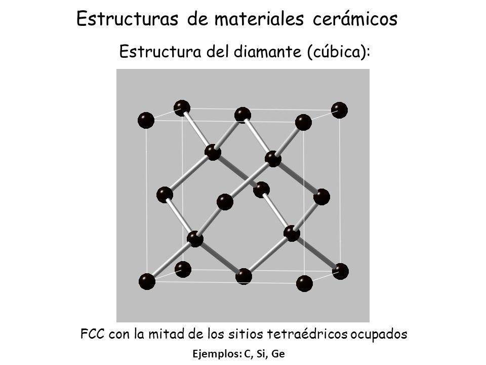 Estructura del diamante (cúbica):