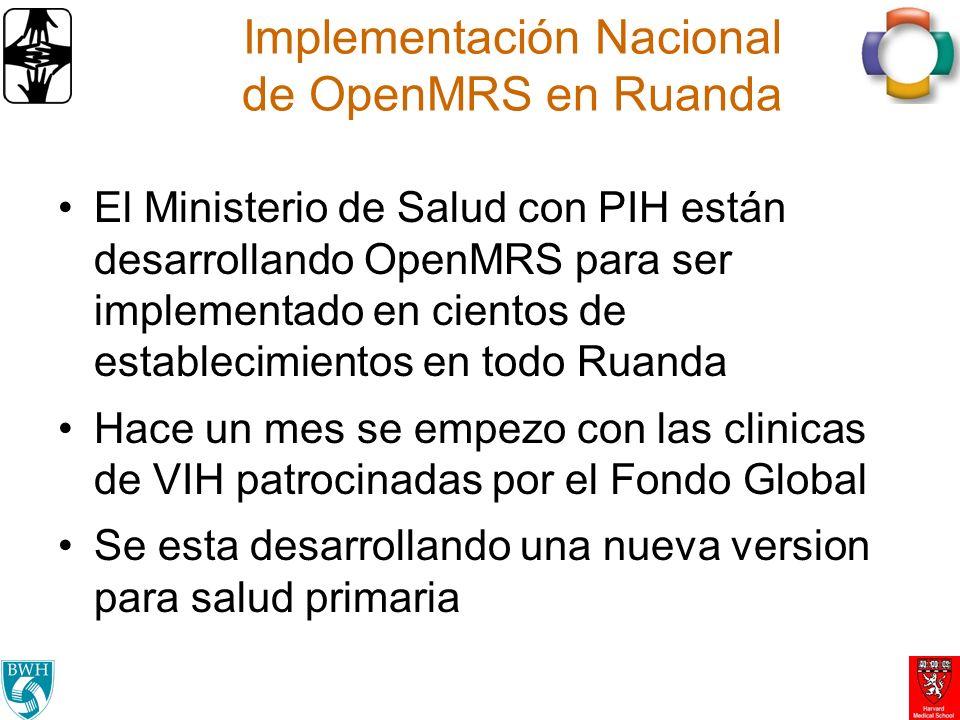 Implementación Nacional de OpenMRS en Ruanda