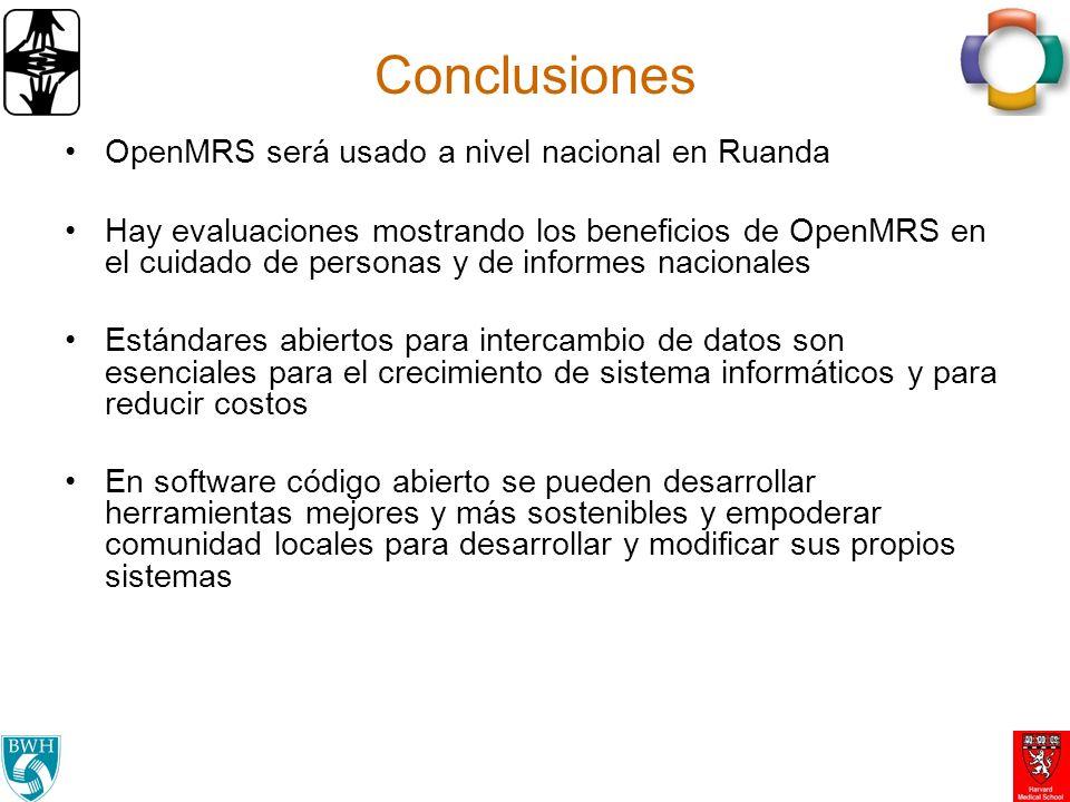 Conclusiones OpenMRS será usado a nivel nacional en Ruanda