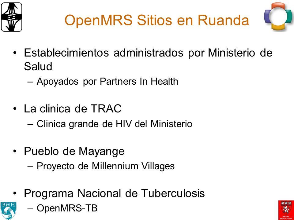 OpenMRS Sitios en Ruanda