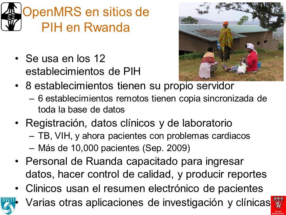 OpenMRS en sitios de PIH en Rwanda