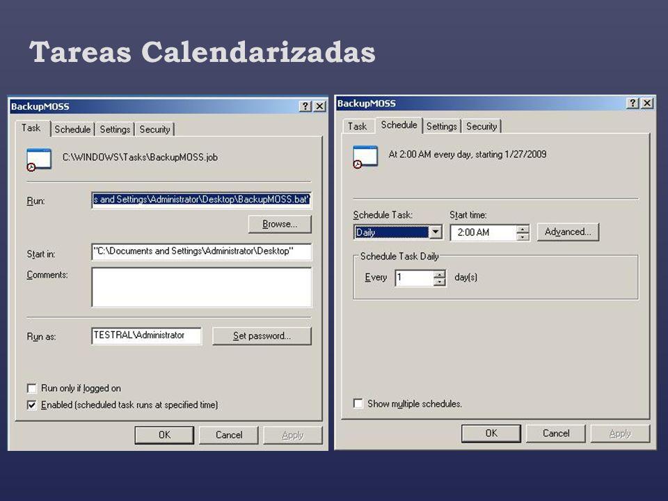 Tareas Calendarizadas