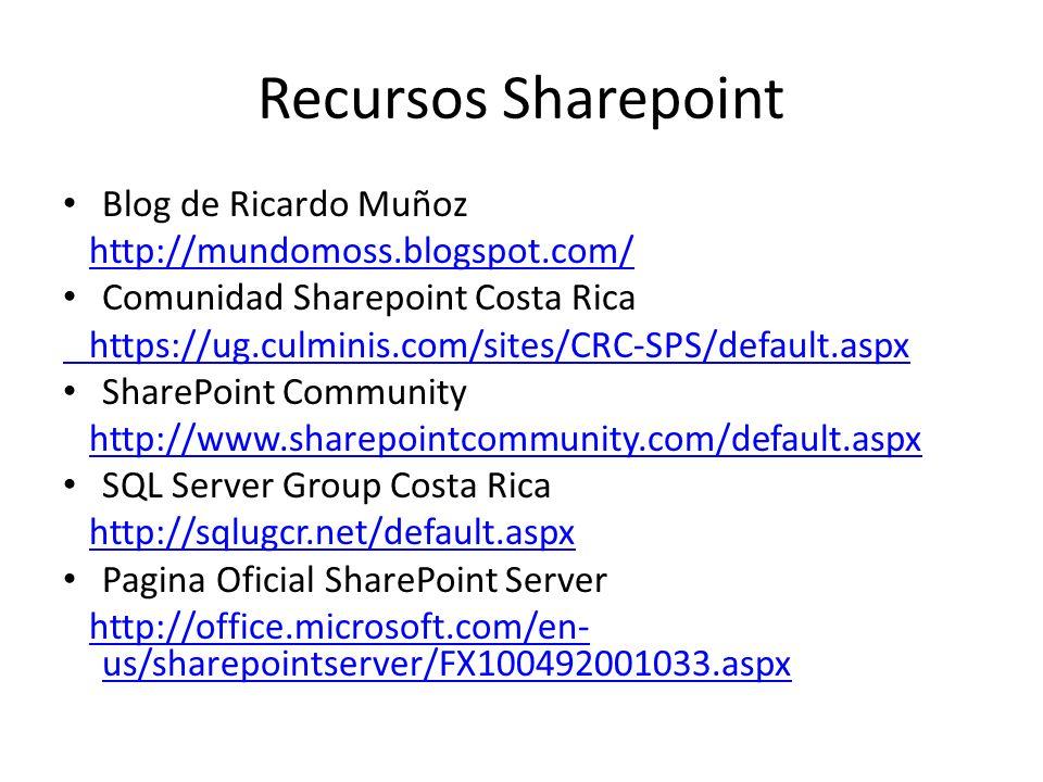 Recursos Sharepoint Blog de Ricardo Muñoz