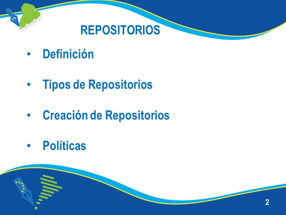 Creación de Repositorios Políticas