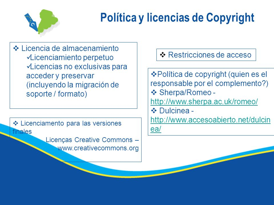 Política y licencias de Copyright