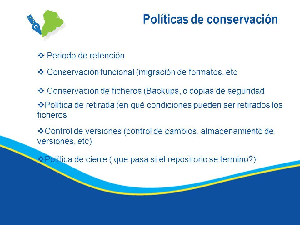 Políticas de conservación
