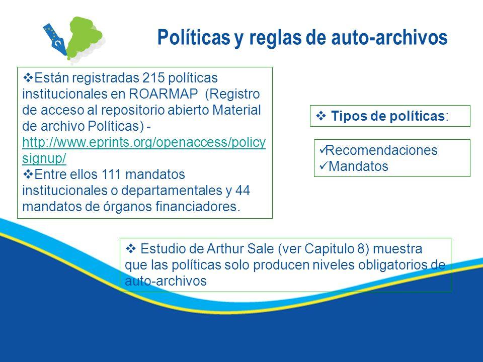 Políticas y reglas de auto-archivos