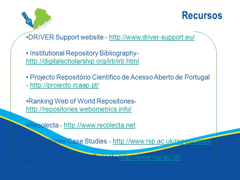 Recursos DRIVER Support website -