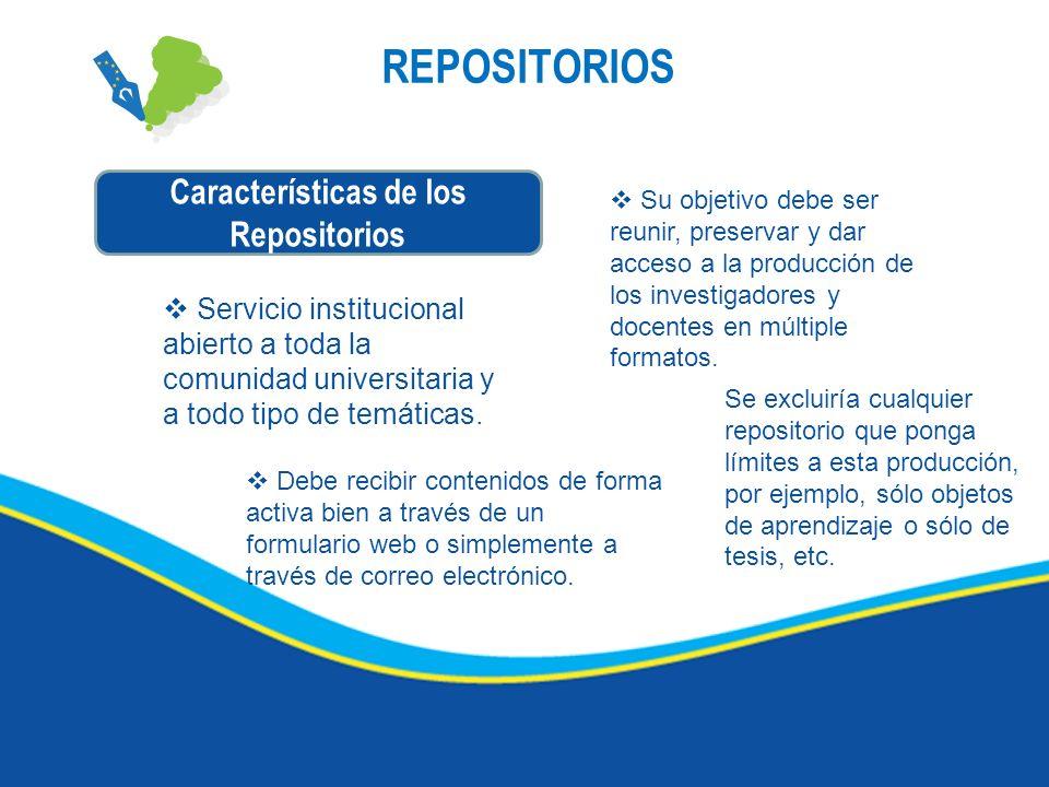 Características de los Repositorios