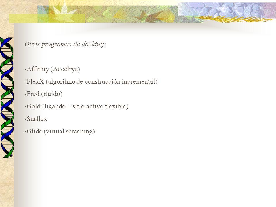 Otros programas de docking: