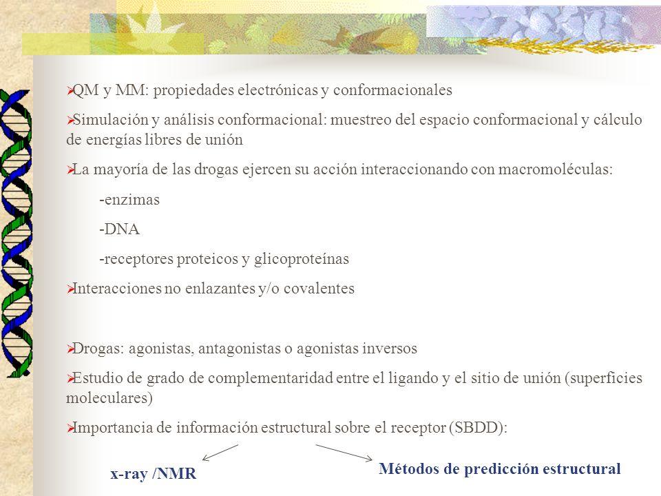 QM y MM: propiedades electrónicas y conformacionales