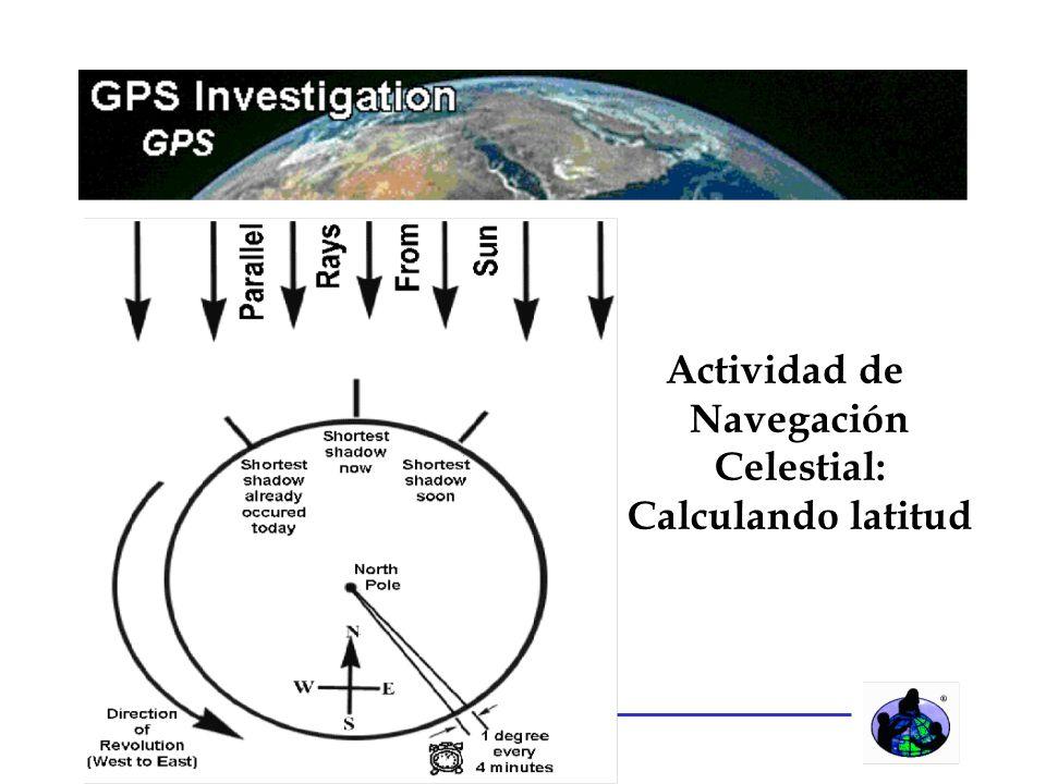 Actividad de Navegación Celestial: Calculando latitud