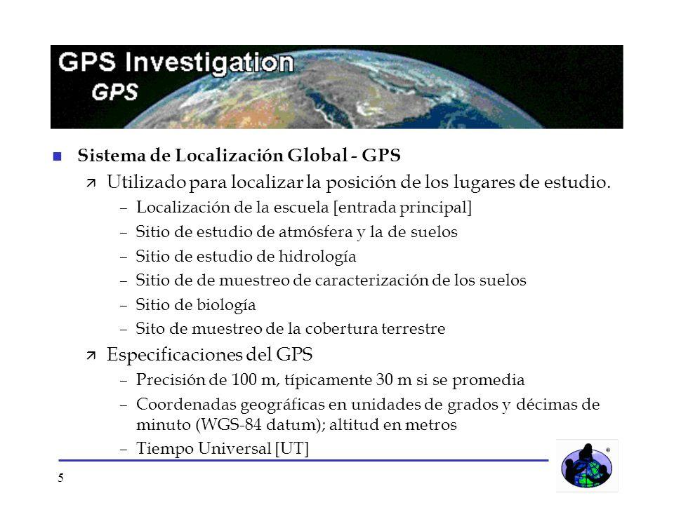 Sistema de Localización Global - GPS