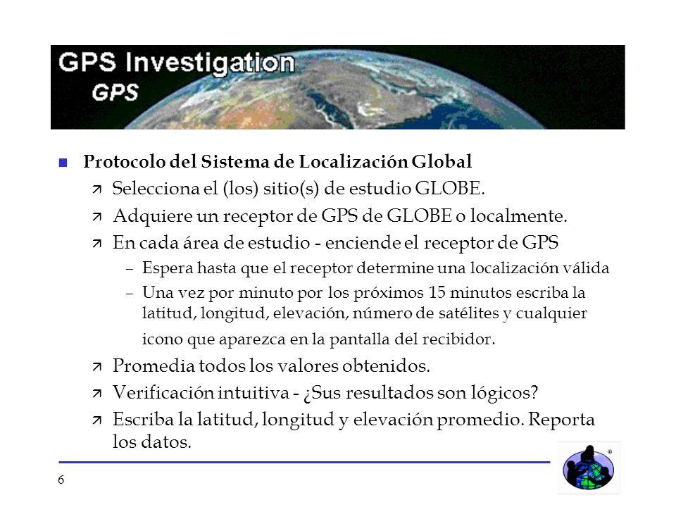 Protocolo del Sistema de Localización Global