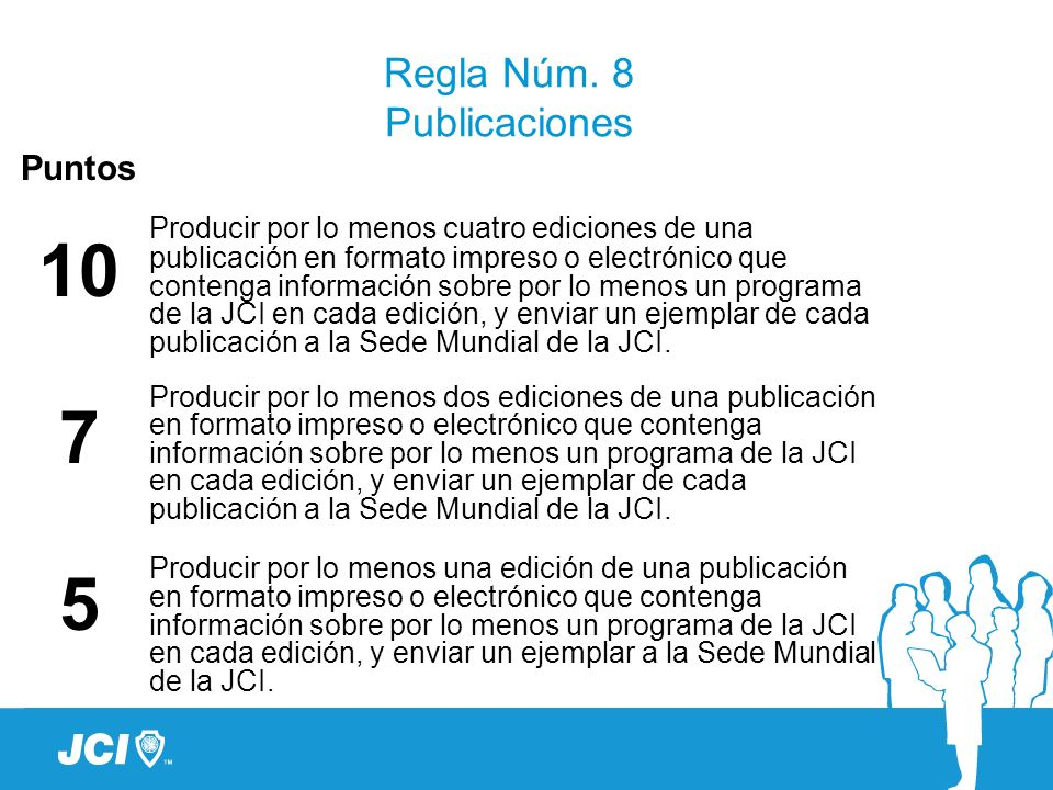 Regla Núm. 8 Publicaciones