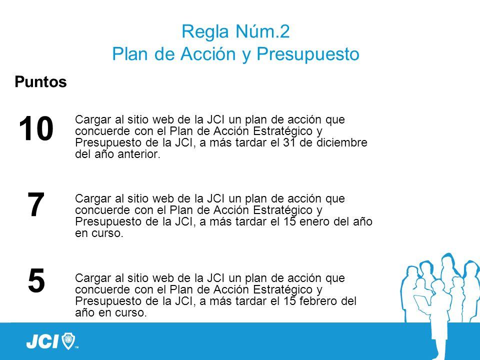 Regla Núm.2 Plan de Acción y Presupuesto